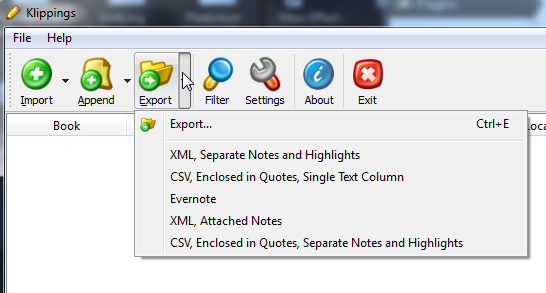 Export Dropdown Clipped